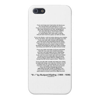 """If"" Poem By Rudyard Kipling (No Kipling Picture) iPhone 5 Covers"