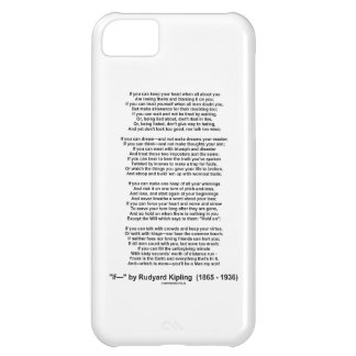 If- Poem by Rudyard Kipling (No Kipling Picture) iPhone 5C Case