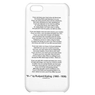 """""""If"""" Poem By Rudyard Kipling (No Kipling Picture) iPhone 5C Covers"""