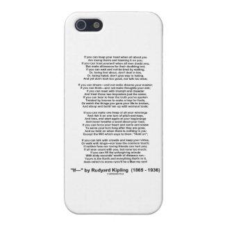 """""""If"""" Poem By Rudyard Kipling (No Kipling Picture) iPhone 5 Covers"""