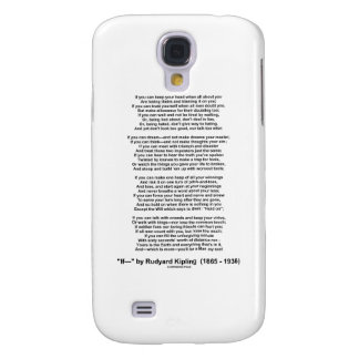 """If"" Poem By Rudyard Kipling (No Kipling Picture) Samsung Galaxy S4 Cover"