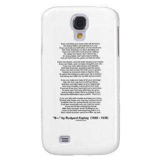 """If"" Poem By Rudyard Kipling (No Kipling Picture) Samsung Galaxy S4 Cover"
