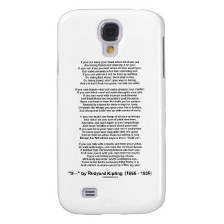 If- Poem by Rudyard Kipling (No Kipling Picture) Samsung Galaxy S4 Covers