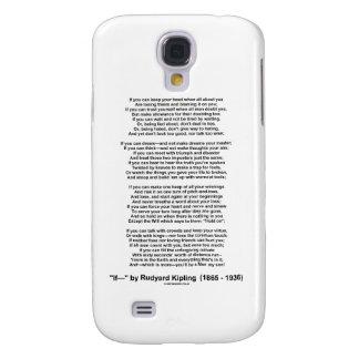 If- Poem by Rudyard Kipling (No Kipling Picture) Samsung Galaxy S4 Covers