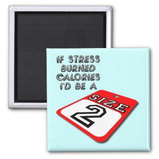 If Stress Burned Calories Funny Fridge Magnet