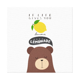 If the life gives to lemons… canvas print