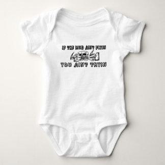 If The Mud Aint Flyin You Aint Tryin Skull 4X4 Baby Bodysuit