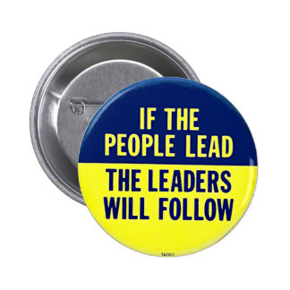If the People Lead - Button
