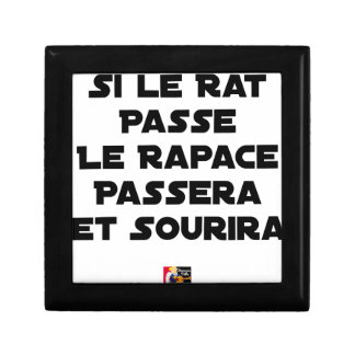 IF THE RAT PASSES, THE RAPTOR WILL PASS AND SMILE GIFT BOX