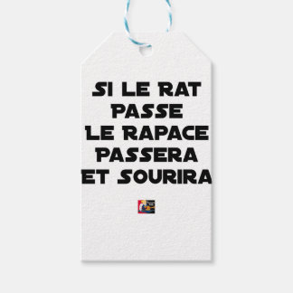 IF THE RAT PASSES, THE RAPTOR WILL PASS AND SMILE GIFT TAGS