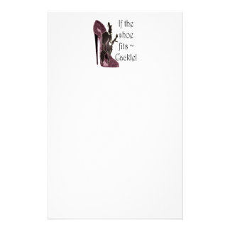 If the shoe fits ~ Cackle! Funny Sayings Gifts Stationery Design