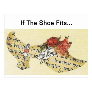 If The Shoe Fits... Cinderella Slipper Postcard