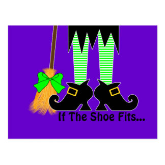 If The Shoe Fits Green Postcard