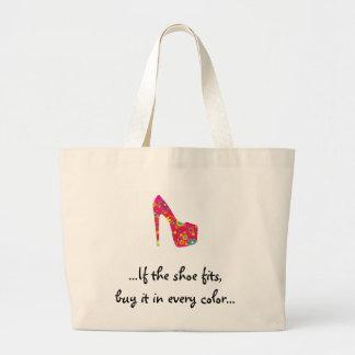 ...If the shoe fits... Jumbo Tote Bag