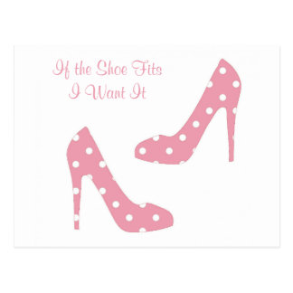 If The Shoe Fits Pink Postcard