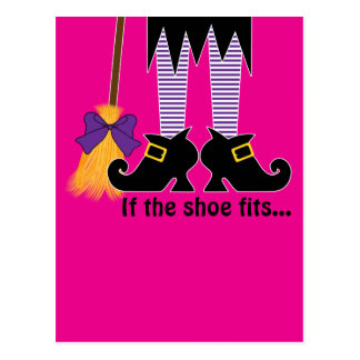 If The Shoe Fits Purple Postcard