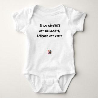 If the Success is brilliant, the failure is matt Baby Bodysuit