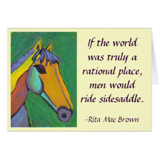If the world was truly a rational place... - card