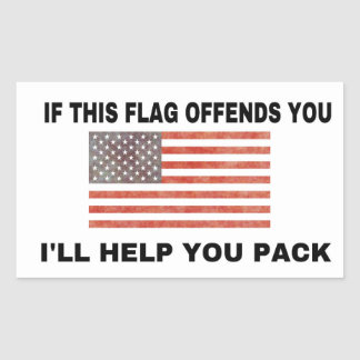 If this flag offends you... rectangular sticker