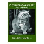 IF THIS SITUATION HAS GOT  YOU THINKING... NOTE CARD
