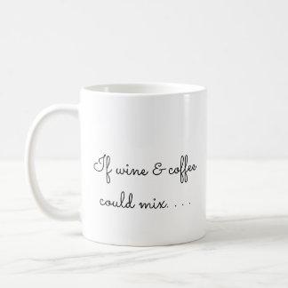 If wine and coffee could mix coffee mug