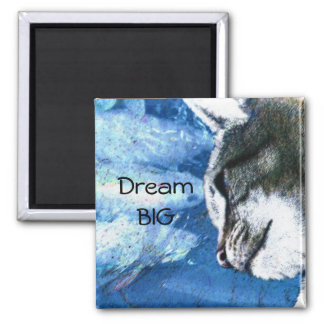 If Wishes Were Fishes Square Magnet