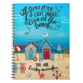 If You Are Lucky Enough| Script Beach Quote Notebooks