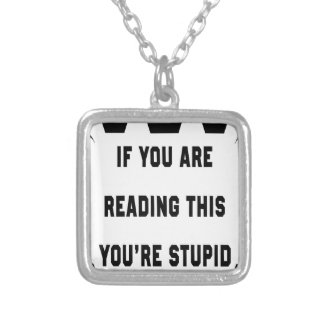 If you are reading this silver plated necklace