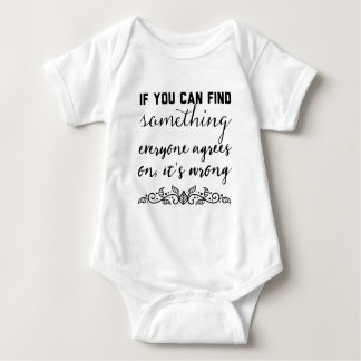 If you can find something everyone agrees on baby bodysuit