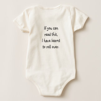 If you can read this, I have learnt to roll over. Baby Bodysuit