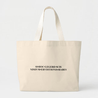 If You Can Read This Latin Bag