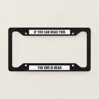 If you can read this licence plate frame