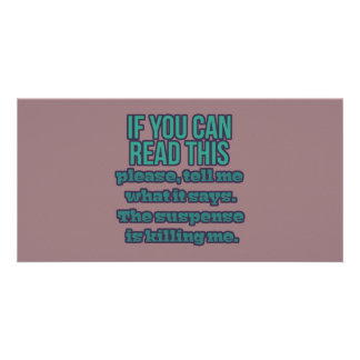If You Can Read This Picture Card