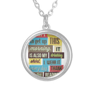 if you can read this then I manged to text and Silver Plated Necklace