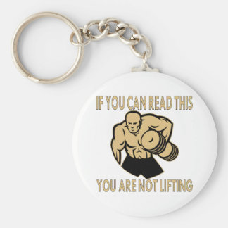 If You Can Read This You Are Not Lifting 2 Basic Round Button Key Ring