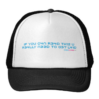 If You Can Read This You Need To Get Laid Geek Mesh Hats