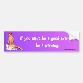 if you can't be a good example... bumper sticker