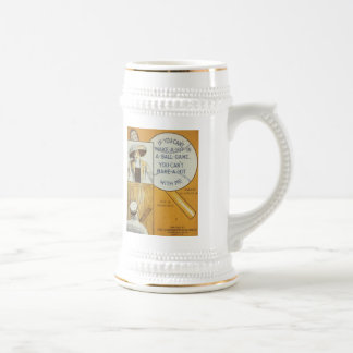 If You Can't Make A Hit in a Ball Game Songbook Co Beer Steins