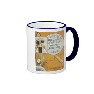 If You Can't Make A Hit in a Ball Game Songbook Co Ringer Mug