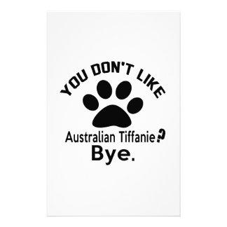 If You Don't Like Australian Tiffanie Cat ? Bye Customized Stationery
