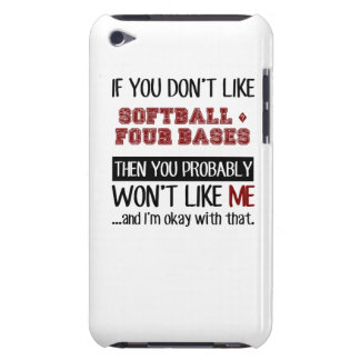 If You Don't Like Softball ? Four Bases Cool iPod Touch Case