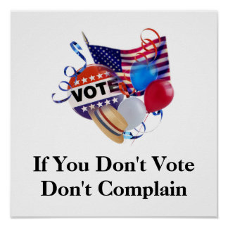 If You Don't Vote Don't Complain Print