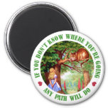 IF YOU DON'T WHERE YOU'RE GOING, ANY PATH WILL DO 6 CM ROUND MAGNET