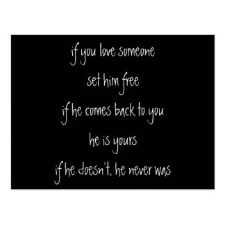 if you love him, quote postcard