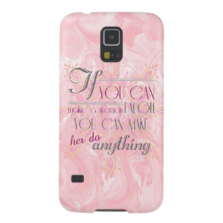 If you make a woman laugh Phone case (Peach)