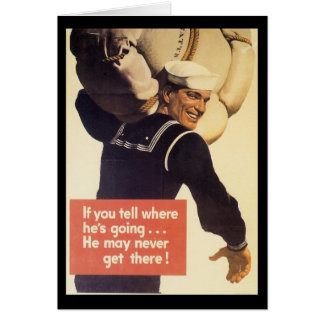 If You Tell World War 2 Greeting Card