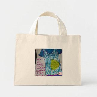 If you think…. a light flax burn mini tote bag