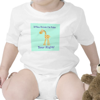 If You Think I m Cute Baby Outfit Rompers