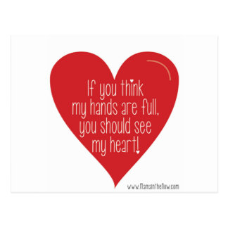 If You Think My Hands Are Full, You Should See... Postcard