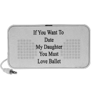 If You Want To Date My Daughter You Must Love Ball Travelling Speakers